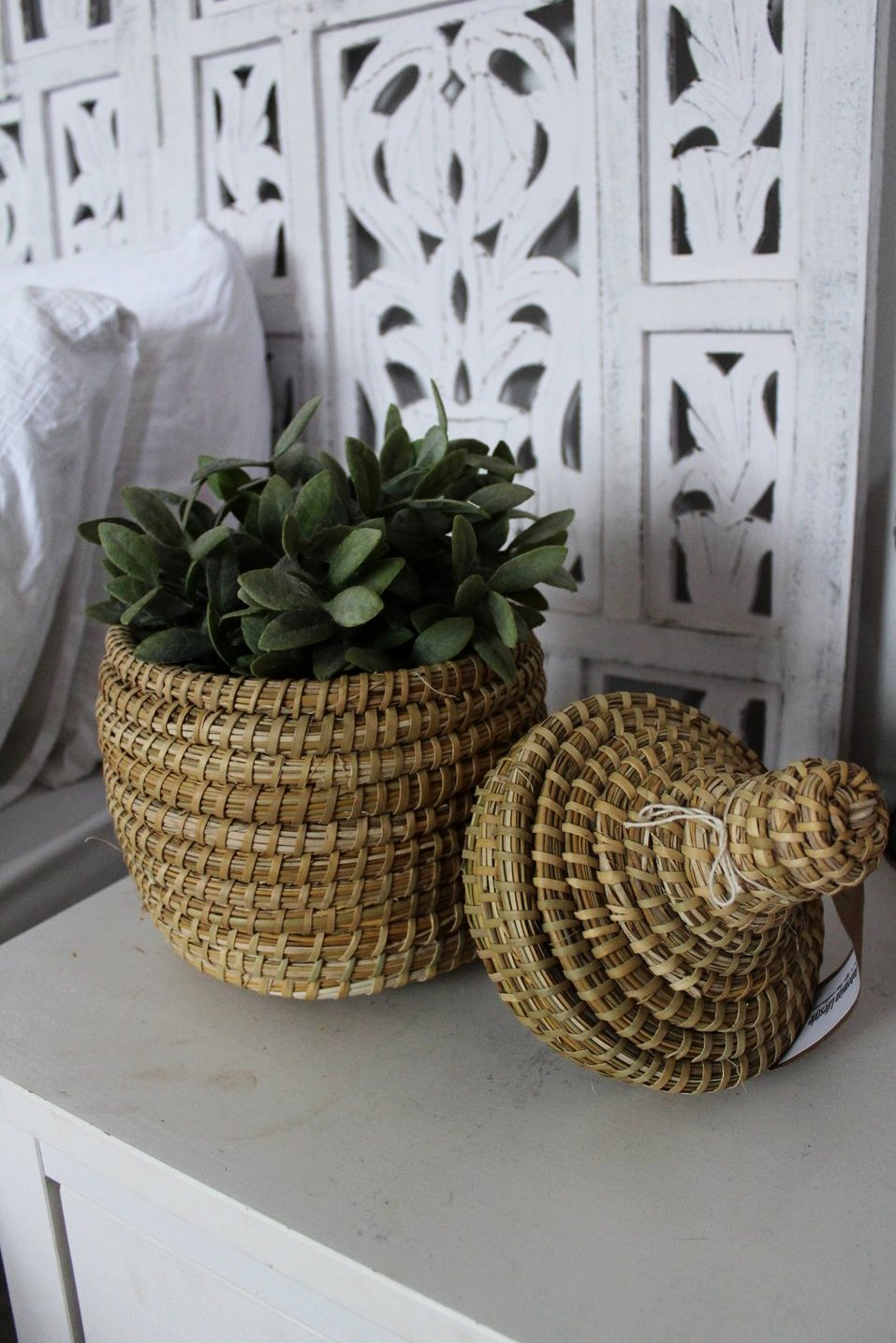 Moroccan Natural Storage Pot - Small - Bohemian Lifestyle