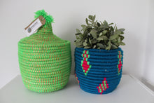 Moroccan Storage Pot –   Blue / Green - Bohemian Lifestyle