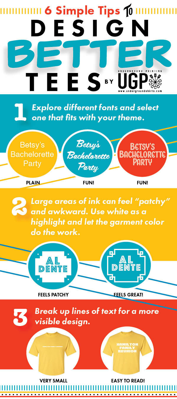 Design tips for better t-shirts, by UGP