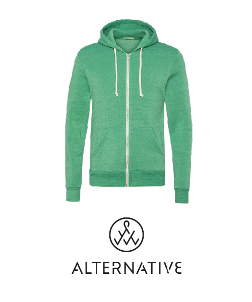 Alternative Apparel brand zip hoodie for custom printing with UGP