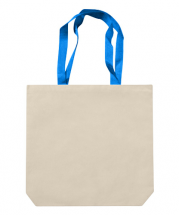 Bag Edge Canvas Boat Tote With Contrast Handles