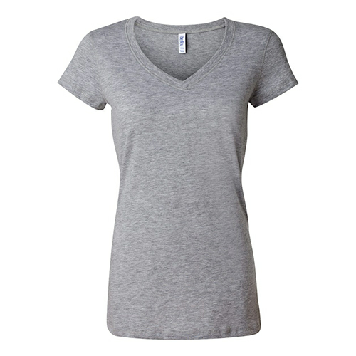 Bella Canvas Ladies Short Sleeve V-Neck T-Shirt