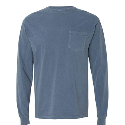 Comfort Colors Adult Long Sleeve Pocket Tee