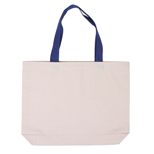 Jetline Cotton Canvas Tote with Gusset and Color Accent Handles