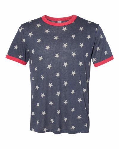 Unisex Keeper Ringer T-Shirt Navy Star