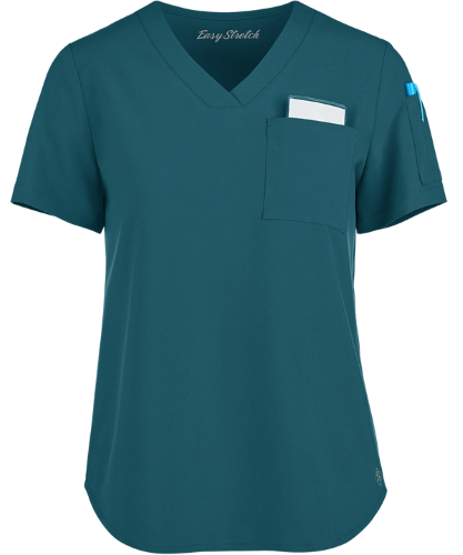 Uniform Advantage Easy STRETCH by Butter-Soft Chloe V-Neck Tuck-In Scrub Top