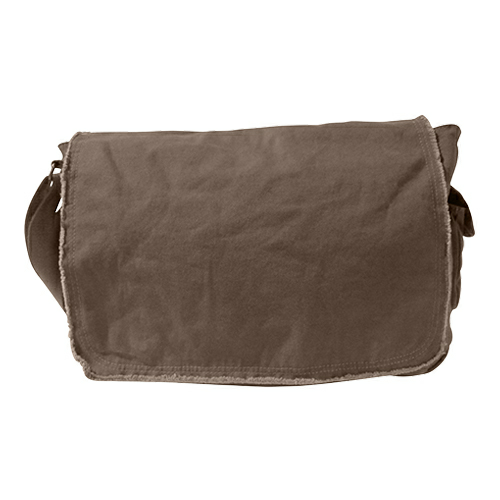 Authentic Pigment Pigment-Dyed Raw-Edge Messenger Bag