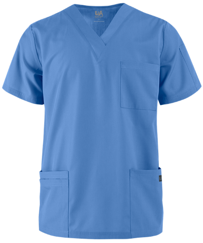 UA Butter-Soft STRETCH Men's V-Neck Scrub Top
