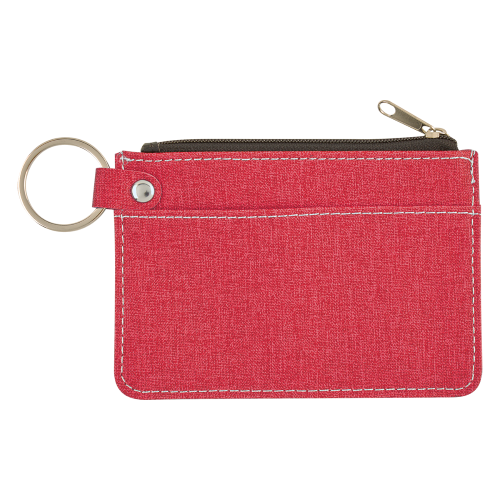 Hit Promo Heathered Card Wallet With Key Ring
