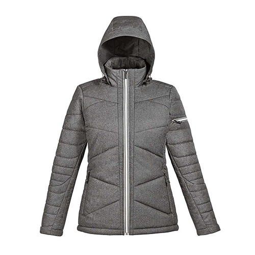 Ash City - North End Sport Blue Ladies Avant Tech Melange Insulated Jacket with Heat Reflect Technology