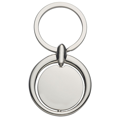 Circular Metal Key Tag