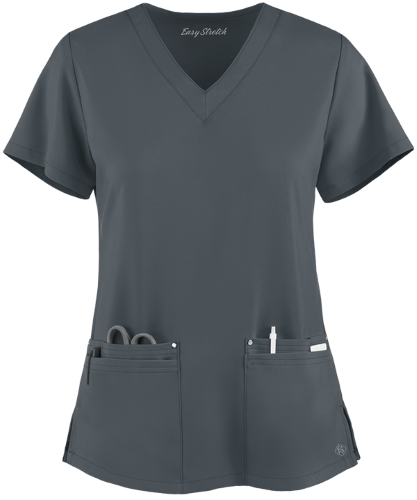 Uniform Advantage Easy STRETCH by Butter-Soft Lina Mitered V-Neck Scrub Top
