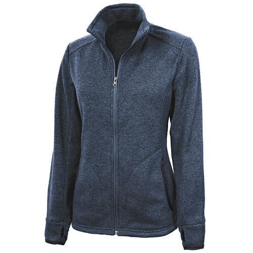 Charles River Ladies Heathered Fleece Jacket