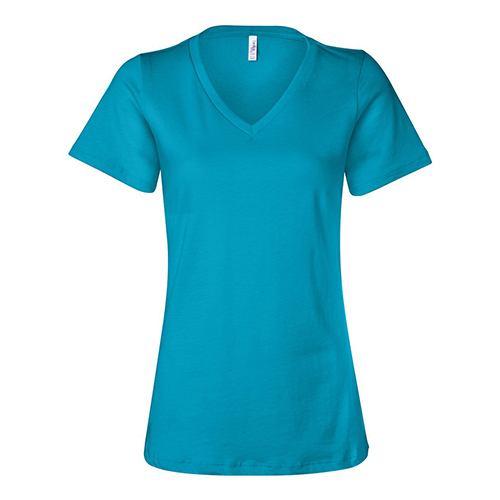 Bella Canvas Womens Relaxed Jersey Short Sleeve V-Neck Tee
