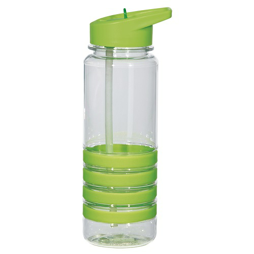 Hit Promo 24oz Banded Gripper Bottle with Straw