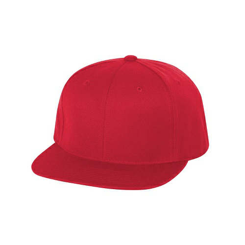 Yupoong 6 Panel Structured Flat Visor Classic Snapback Hat