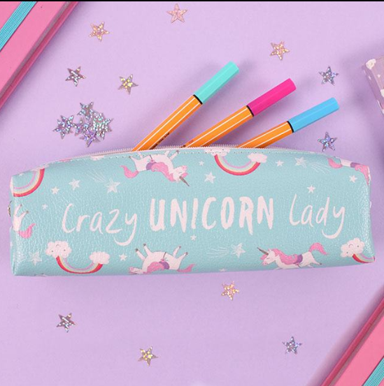 Crazy Unicorn Lady Pencil Case