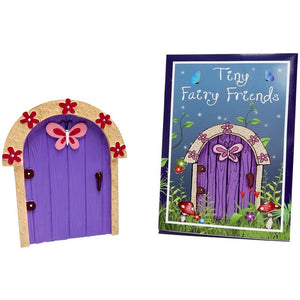 Purple Fairy Door With Pink Butterfly