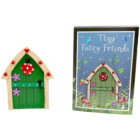 Green Fairy Door With Ladybird
