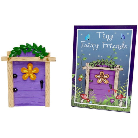 Purple Fairy Door With Yellow Flower
