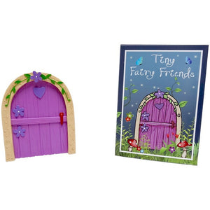 Pink Fairy Door With Purple Heart
