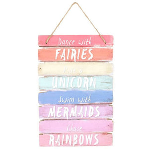 Dance With Fairies Rainbow Sign
