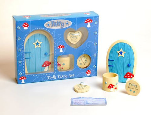 Fairy Door And Tooth Fairy Box Blue