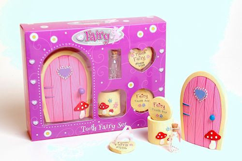 Fairy Door And Tooth Fairy Box Pink