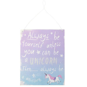 Purple & Blue Unicorn Sign