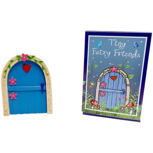 Blue Fairy Door With Red Heart