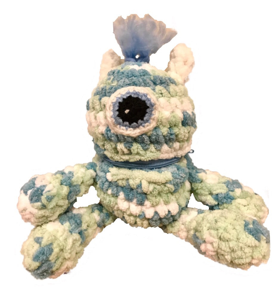 Handmade Worry Monsters Blue or Pink