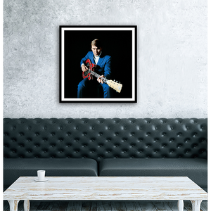 'Blue Suit and Red Guitar' Wall Art