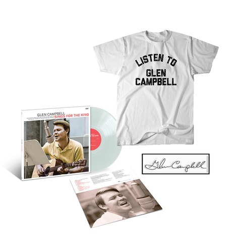 Glen Sings For The King Limited Edition LP + Tee + Enamel Pin