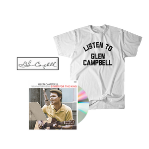 Glen Sings For The King CD + Tee + Enamel Pin