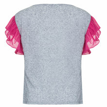 T-shirt Mares Cinza e Pink