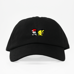 Ash & Pika Dad Hat - Negra