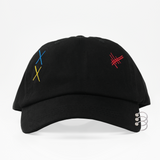 Multi-Color Shapes Ring Dad Hat - Negra