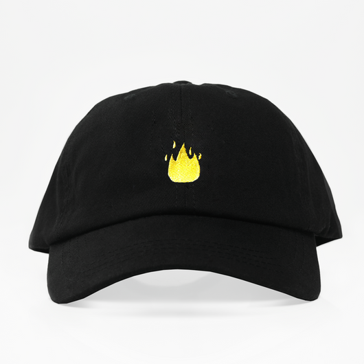 Fire Emoji Dad Hat - Negra