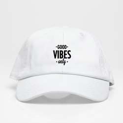 Good Vibes Only Dad Hat - Blanca
