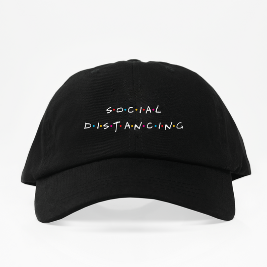 Social Distancing Dad Hat - Negra