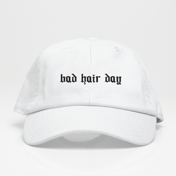 Bad Hair Day Dad Hat - Blanca