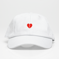 Broken Heart Dad Hat - Blanca