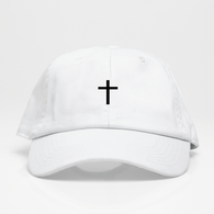 †Cross† Dad Hat - Blanca