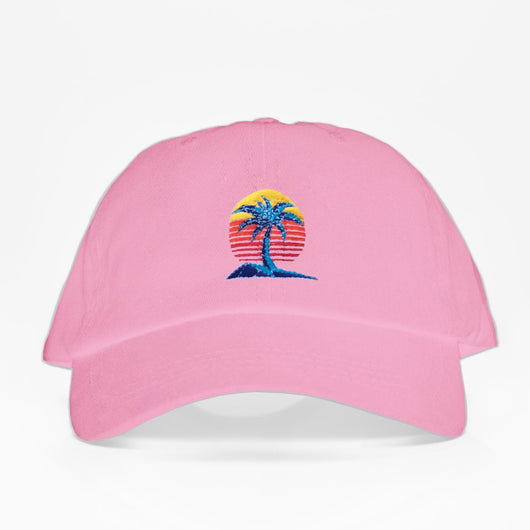 Palm Set Dad Hat - Rosada