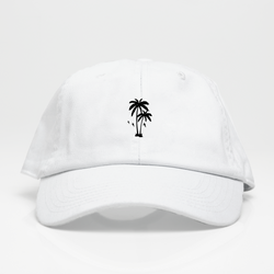 Palm Vibes Dad Hat - Blanca