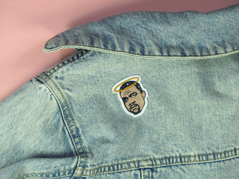 jeans denim kanye west patch