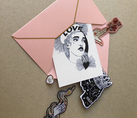 fka twigs, love, postcards, christmas, holiday, illustration