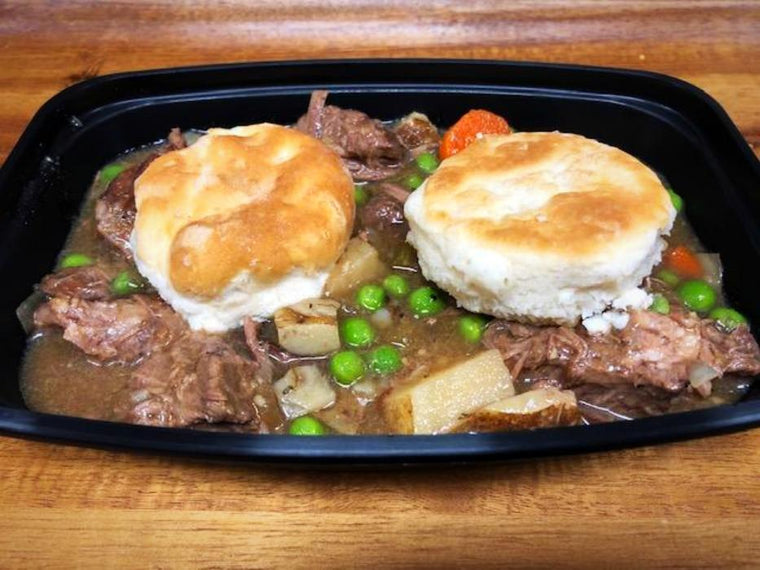 Feature-Beef and Biscuit Stew