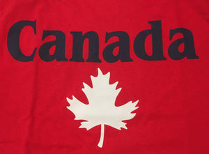 Red Canada T-Shirt with White Leaf
