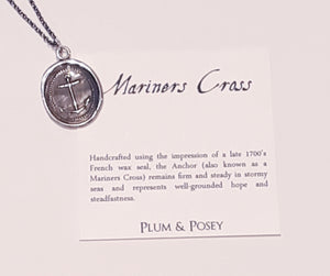 Mariners Cross wax seal pendant